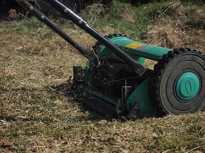 Mowing the lawn in Bournemouth